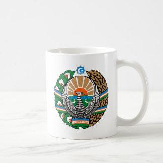 Taza del escudo de armas de Uzbekistán