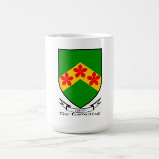 Taza del escudo de armas del apellido de Curley