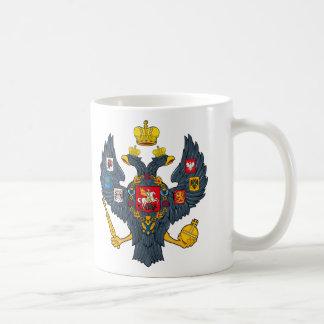 Taza del escudo de armas del imperio ruso