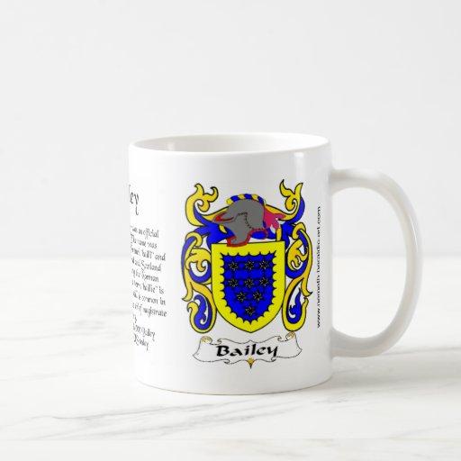 Taza del escudo de Bailey