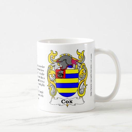 Taza del escudo de $cox