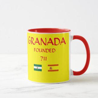 Taza del escudo de Granada España