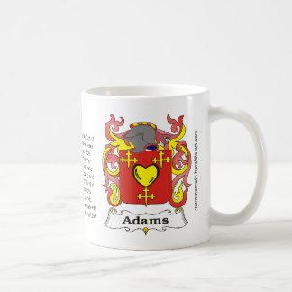 Taza del escudo de la familia de Adams