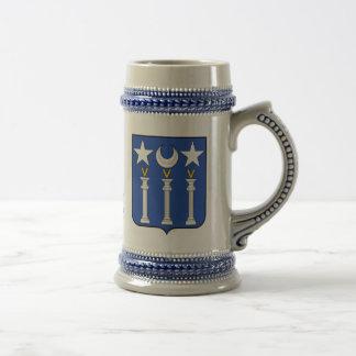 Taza del escudo de la familia de Baillot y de Stei