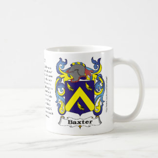 Taza del escudo de la familia de Baxter
