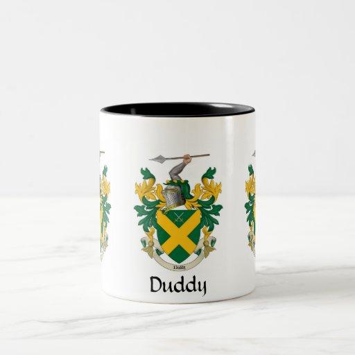 Taza del escudo de la familia de Duddy