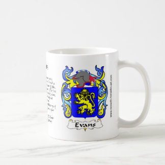 Taza del escudo de la familia de Evans