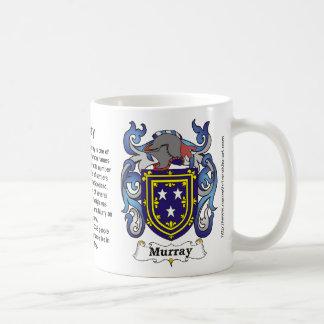 Taza del escudo de la familia de Murray