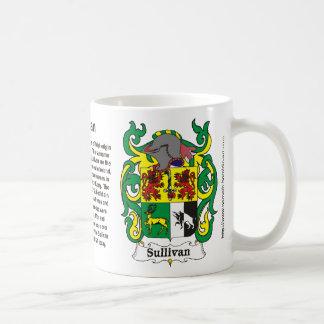 Taza del escudo de la familia de Sullivan