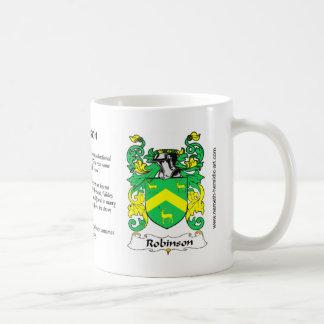 Taza del escudo de Robinson