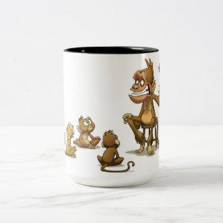 Taza del espectáculo de marionetas del mono