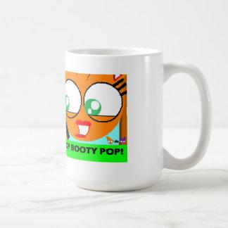 taza del estallido del botín del orangey y del man