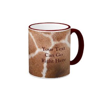 Taza del estampado de girafa
