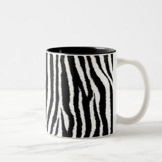 Taza del estampado de zebra