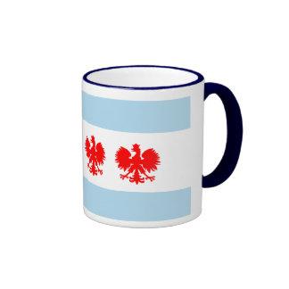 Taza del estilo del polaco de la bandera de