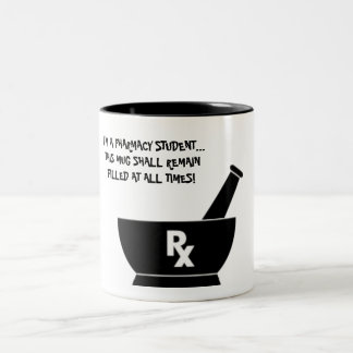 Taza del estudiante de la farmacia