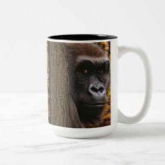 Taza del Fauna-partidario del gorila de la tierra