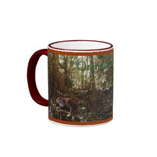 Taza del Fauna-partidario del orangután de la