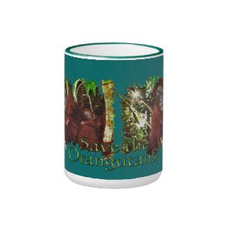 Taza del Fauna-partidario del orangután y del bebé