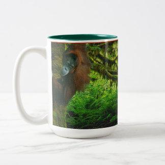Taza del Fauna-partidario salvaje del orangután y
