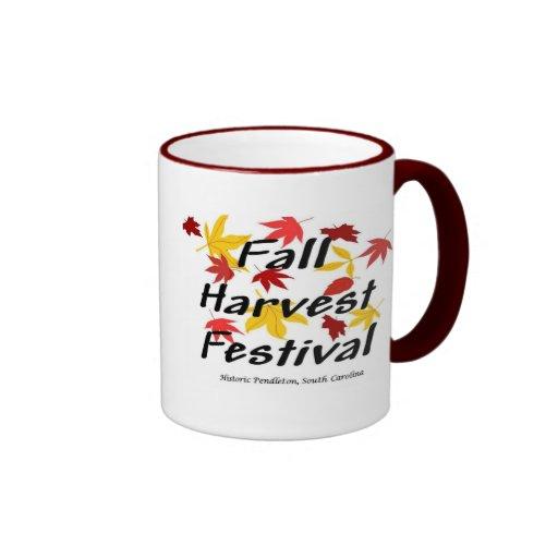 Taza del festival de la cosecha de la caída
