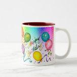 Taza del fiesta del feliz cumpleaños