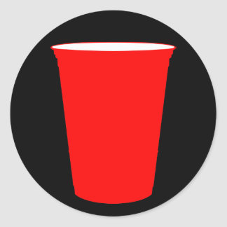 taza del fiesta pegatina