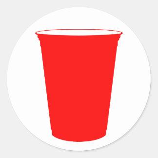 taza del fiesta pegatina redonda