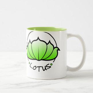 Taza del flor de Lotus (verde)