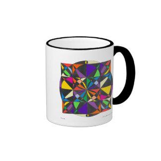 Taza del flor del arco iris
