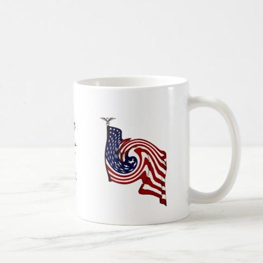 Taza del flujo del torbellino de la bandera americ