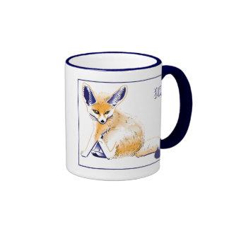 """""""Taza del Fox de Fennec"""" Taza De Dos Colores"""