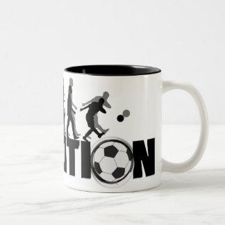 Taza del fútbol de la evolución