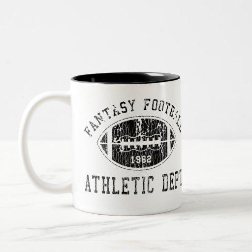 Taza del fútbol de la fantasía