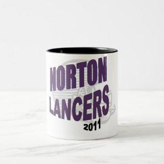 Taza del fútbol de los lanceros de Norton