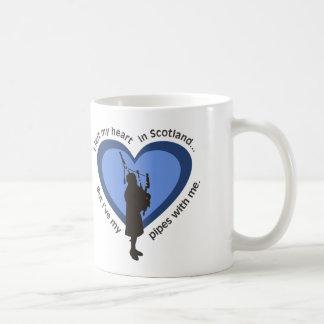 Taza del gaitero:  Dejé mi corazón en Escocia