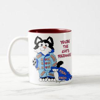 Taza del gatito de la diversión de los pijamas del