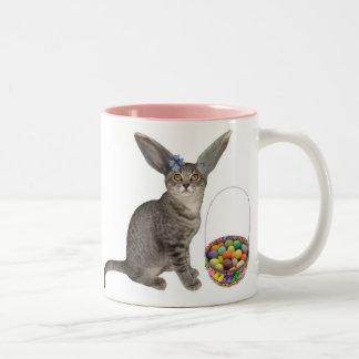 Taza del gatito de Pascua
