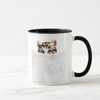 Taza del gatito del bolsillo