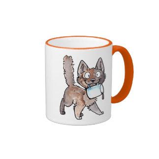 Taza del gatito del café