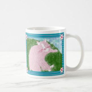 Taza del gatito del florista