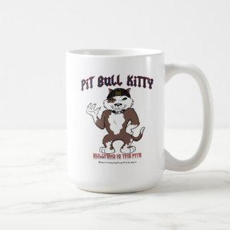 Taza del gatito del pitbull