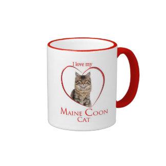 Taza del gato de Coon de Maine