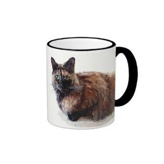Taza del gato de la concha