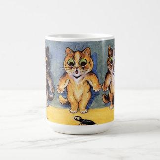 Taza del gato de Scaredy de Louis Wain