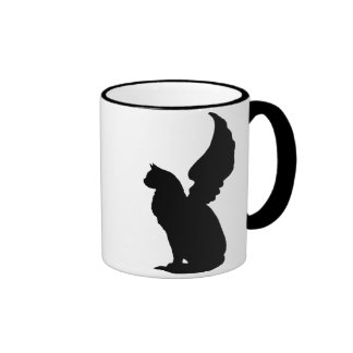 Taza del gato del ángel