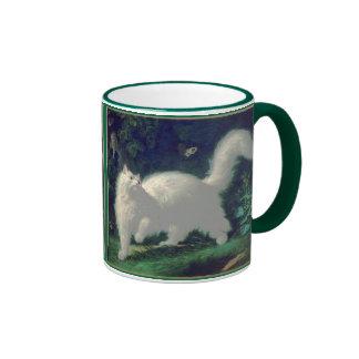 Taza del gato del angora