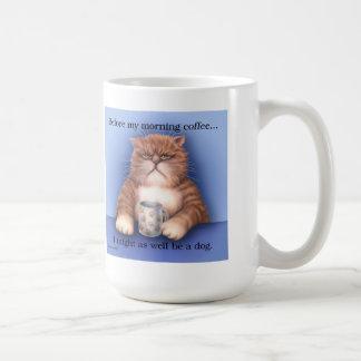 Taza del gato del café