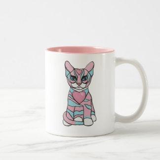 Taza del gato del chica