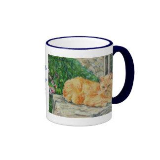 Taza del gato del jengibre